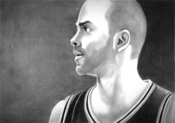 SA Spurs - Tony Parker by momonoartstudio