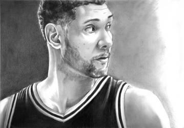 SA Spurs - Tim Duncan by momonoartstudio
