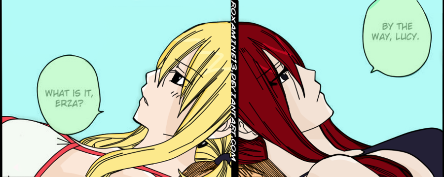 Fairy Tail Chapter 298 Lucy and Erza by Roxamine13 on ...