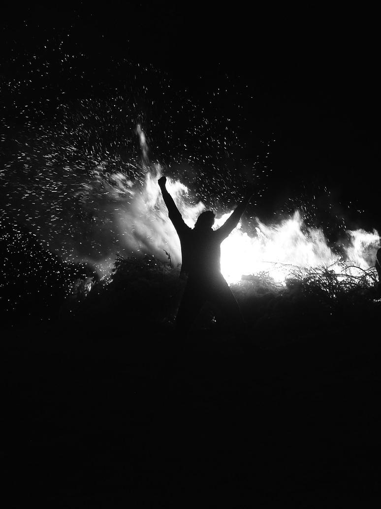 Man on fire by GiovanniZero
