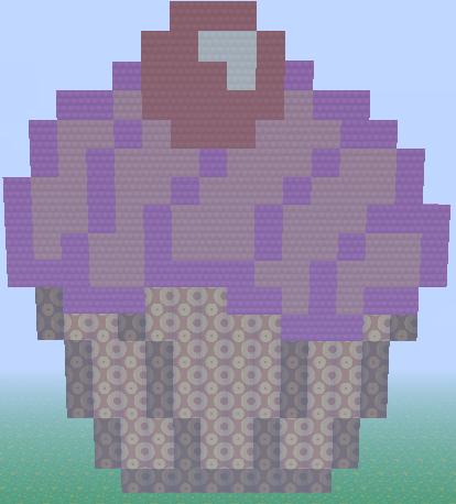Minecraft Cupcake Pixel Art By Cheesy Llama13 On Deviantart