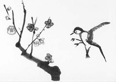 Sumi-e Hummingbird by shadowolf