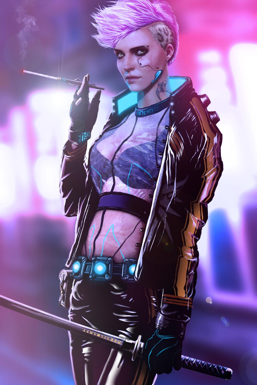 Ciri Cyberpunk 2077 by benSatori on DeviantArt