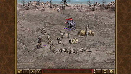 Witcher of might and magic III Geralt vs Striga W1