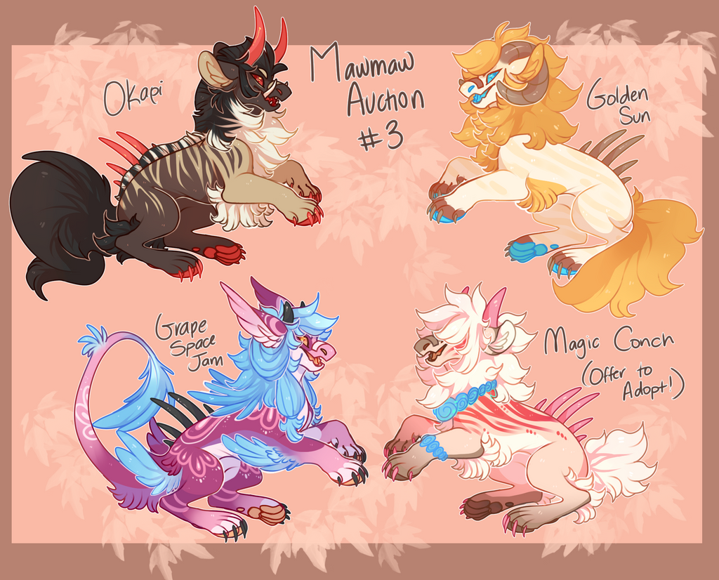 Mawmaw Auction 3! CLOSED by Snappledragons
