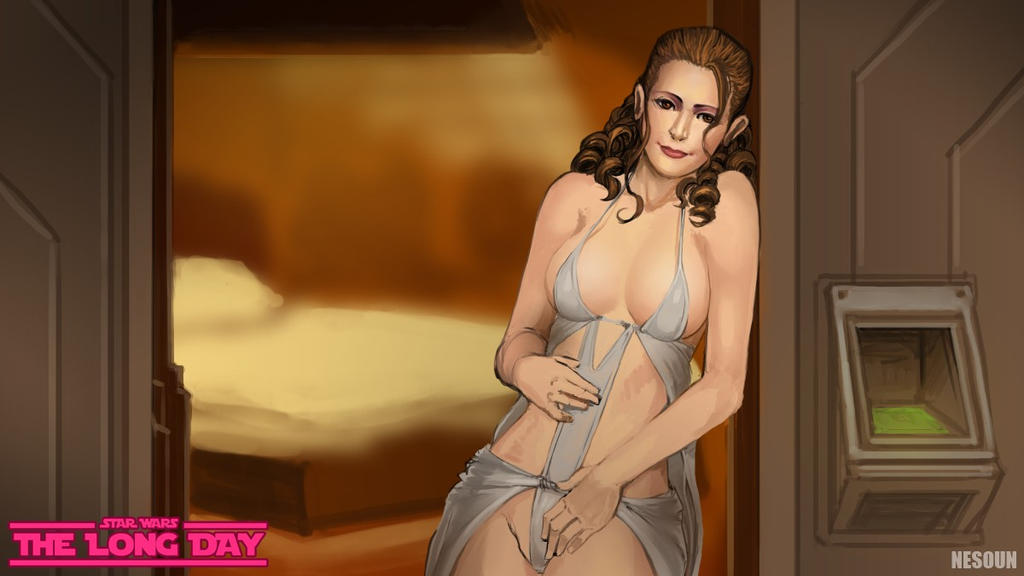SWtLD - Leia at the door by nesoun