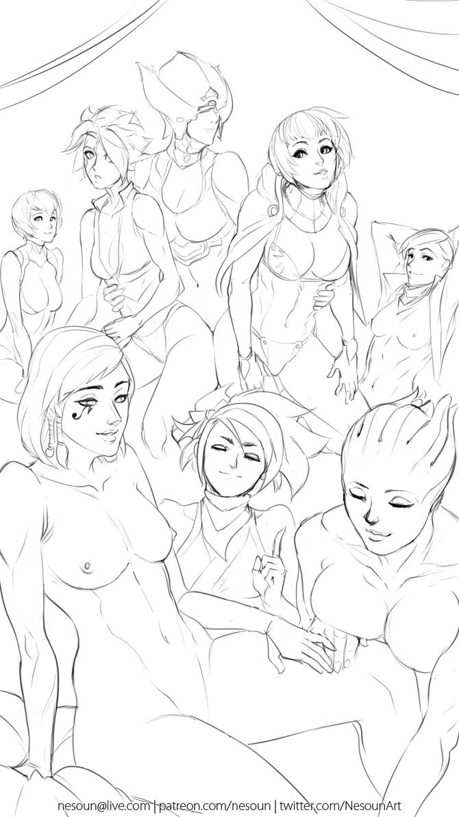 Another Party wip B by nesoun