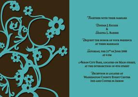 Invitation for a Wedding by valkyrjan