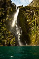 Waterfall in New Zealand by valkyrjan