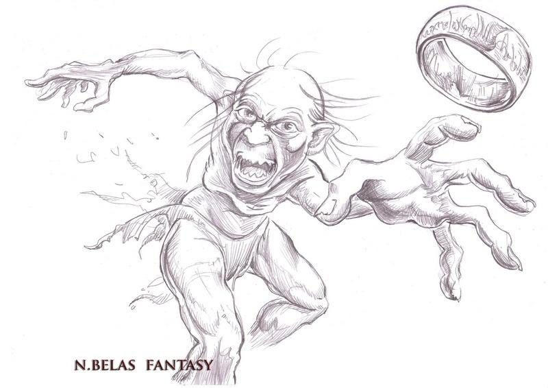 Gollum Smeagol and ring by BelasFantasy