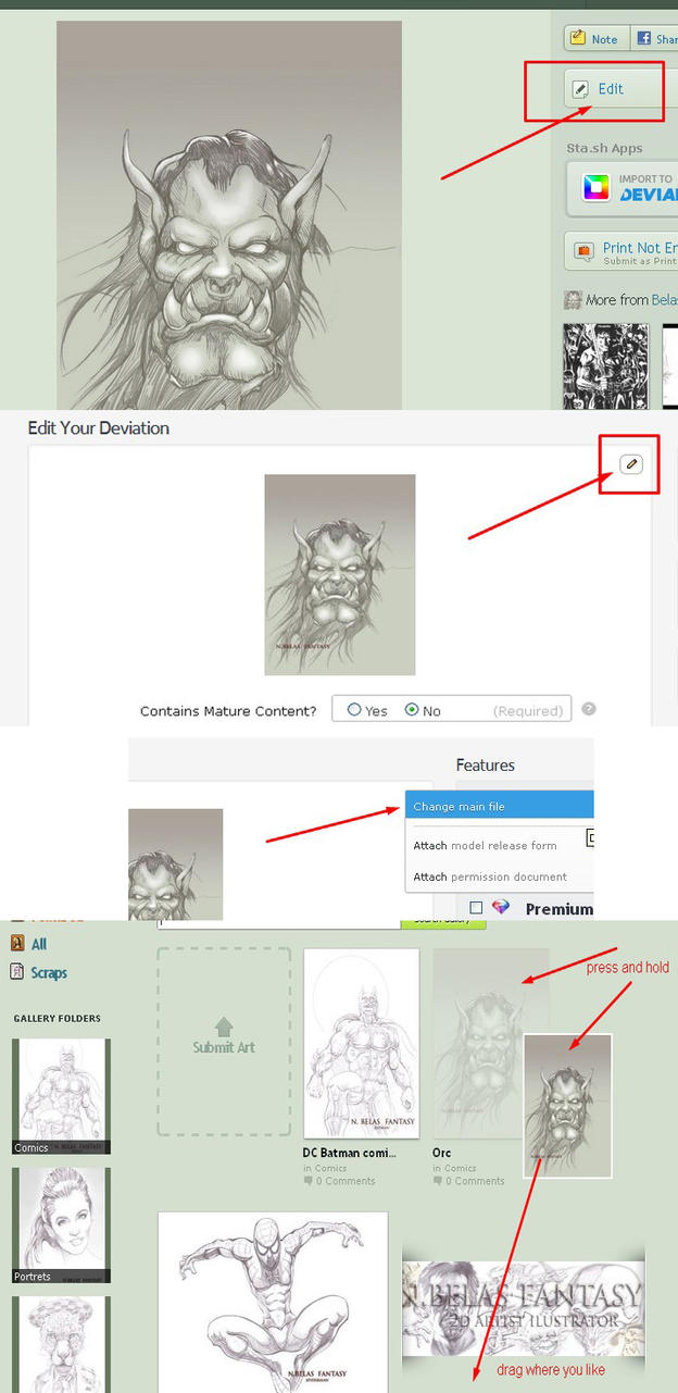 How to change version and position of pictures? by BelasFantasy