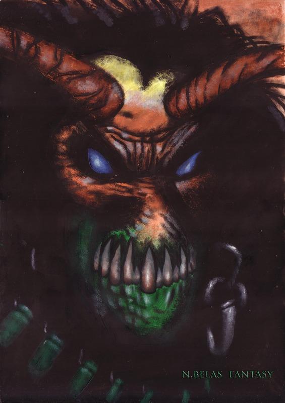 Fear of the dark Demon by BelasFantasy