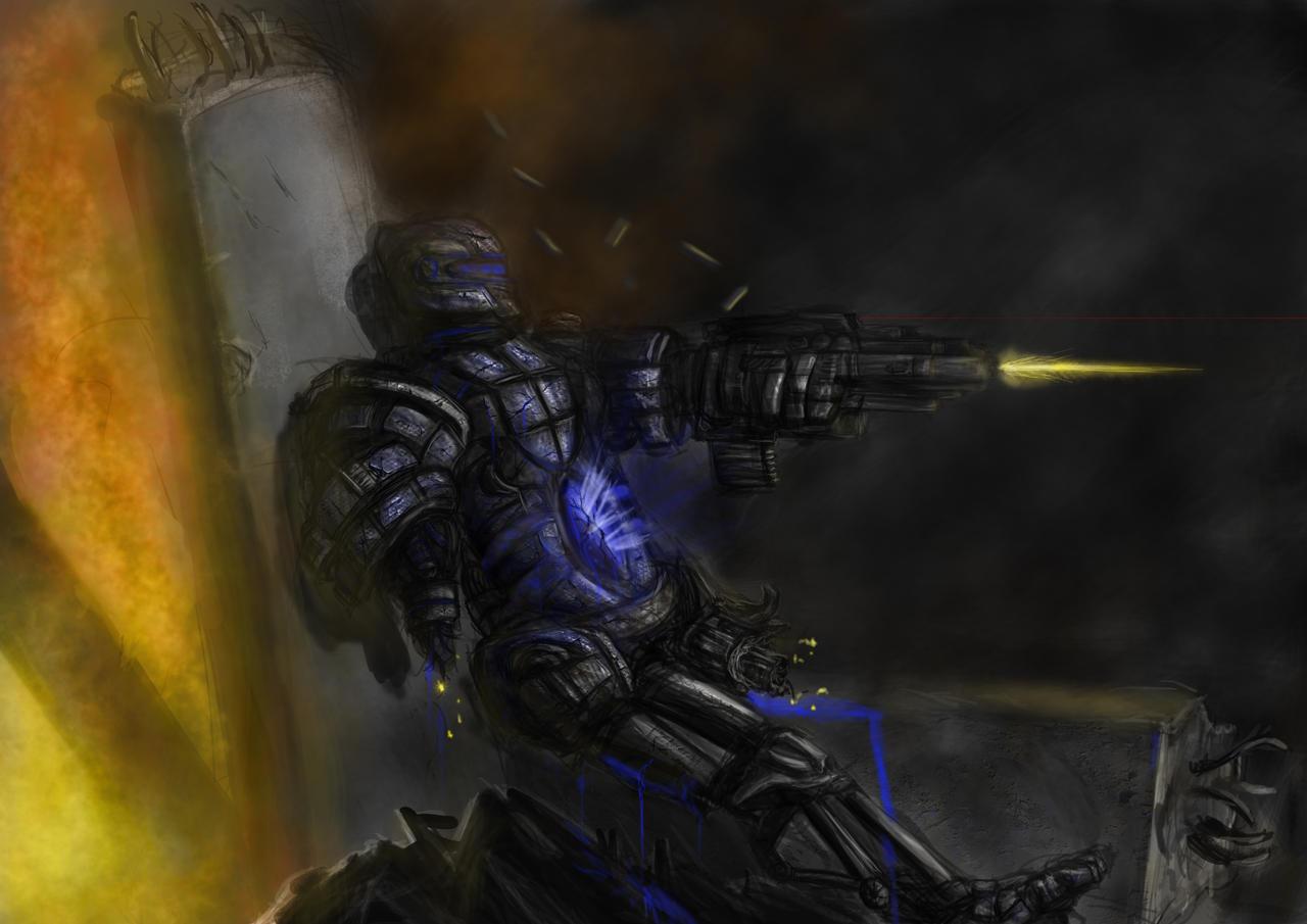 battel damage robot / mech by Blavit