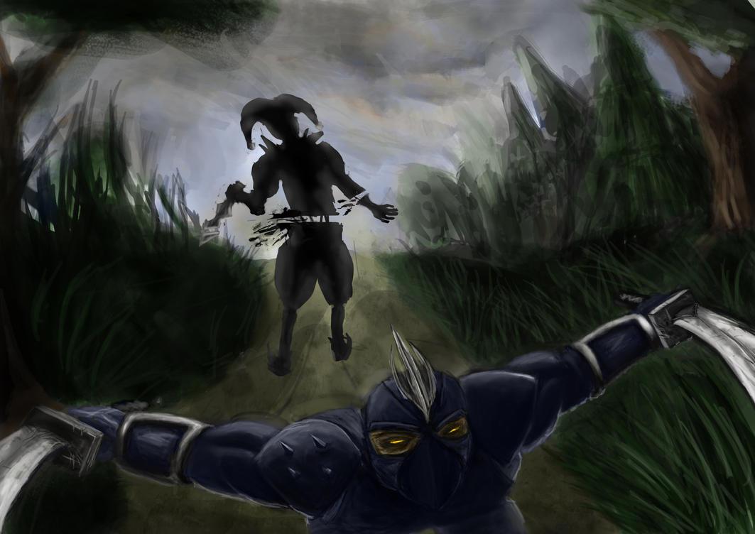 League of Legends shen vs shaco by Blavit