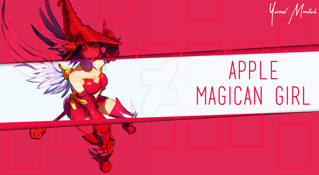 Apple Magican Girl Playmat by Youssef-Mamdouh