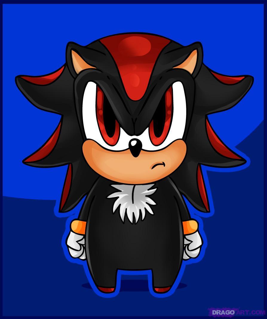 Shadow the hedgehog human chibi