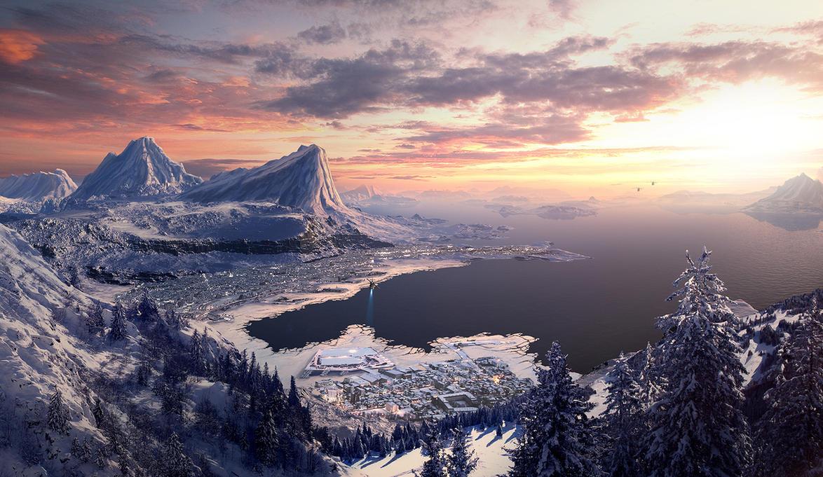 Winter Bay by edlo