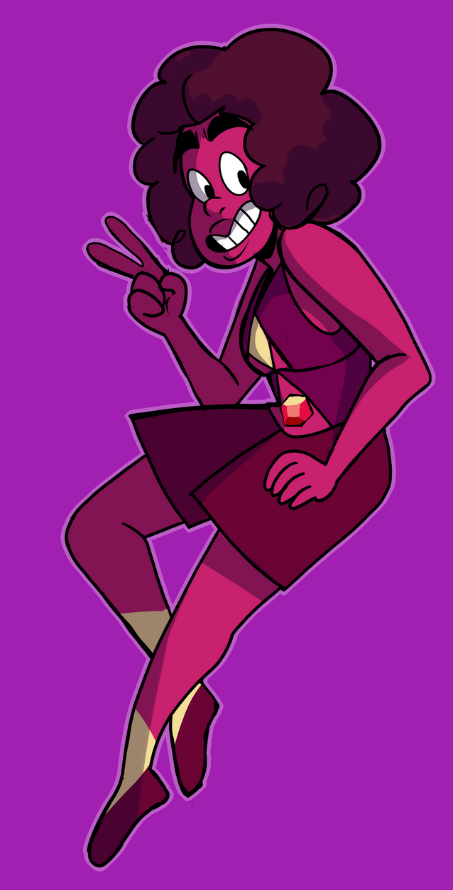 30 DAYS OC DRAWING CHALLENGE honestly, nothing siuts her more than a ruby.