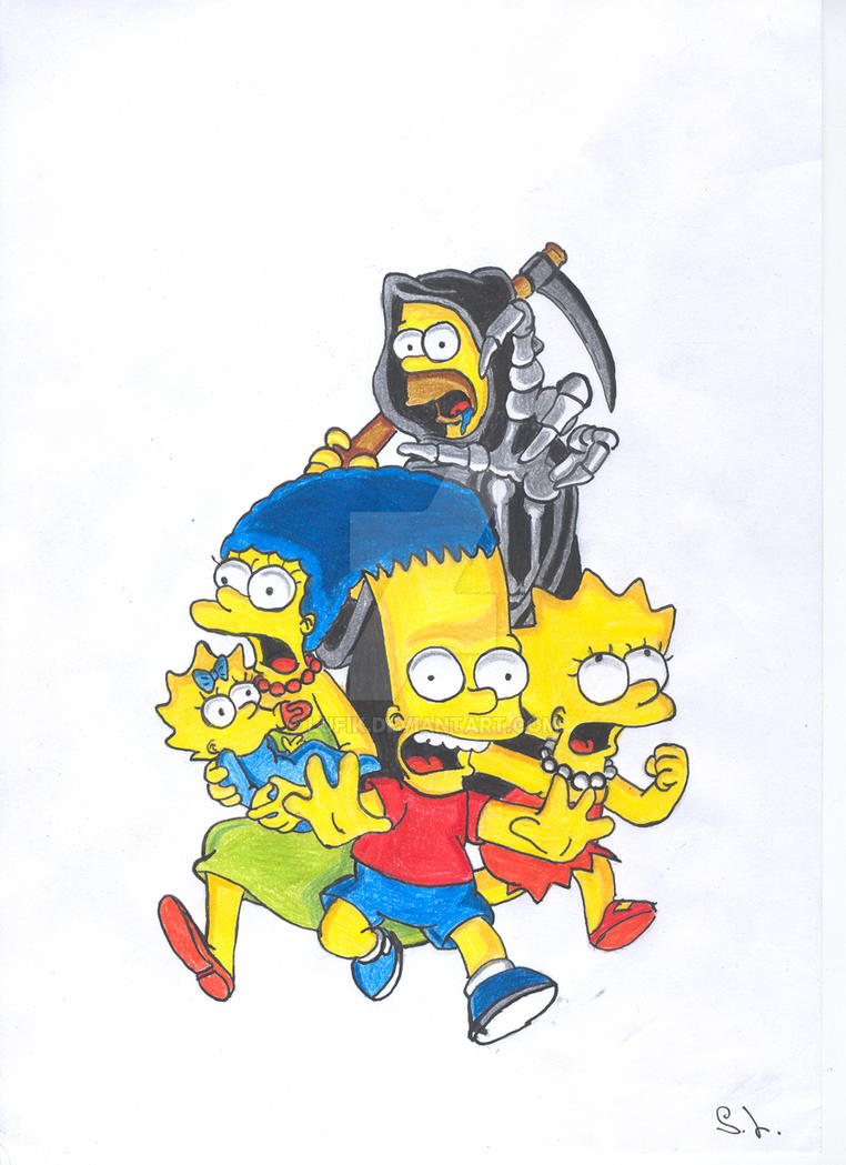 The Simpsons by Lufik
