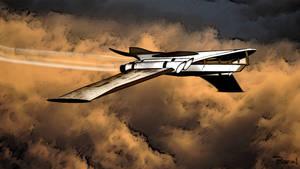 Manta Cloud Airship by JohnBaron