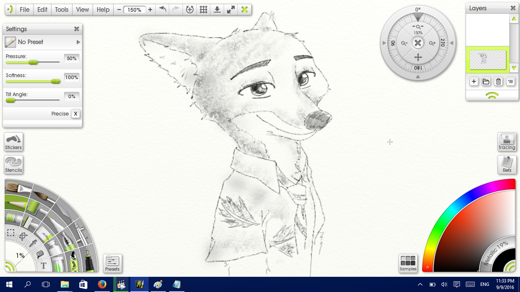 WIP: Nick Wilde 2 by Solitude-Cried