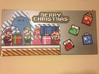Christmas Mural by eightbitbert