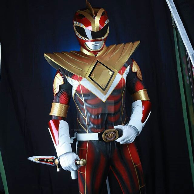 Mighty Morphin Power Rangers Wallpaper: Mighty Morphin Power Rangers Red Dragon Suit By