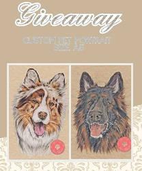 Giveaway - custom pet portrait size A5