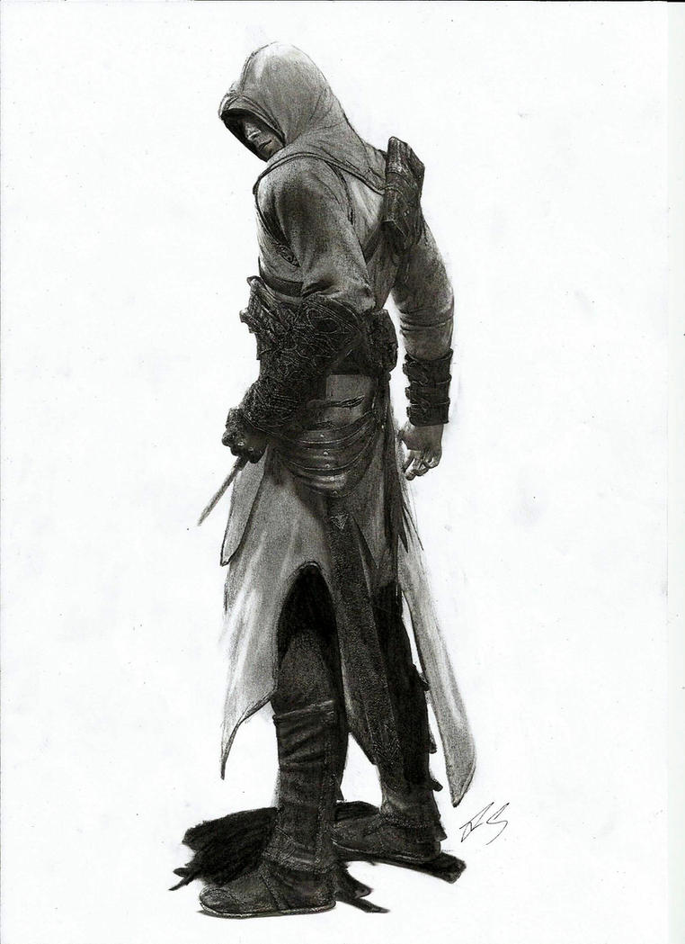 Assassin's Creed Altair pencil drawing by Pick45Art