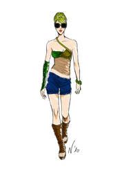 Fashion model sketch 2