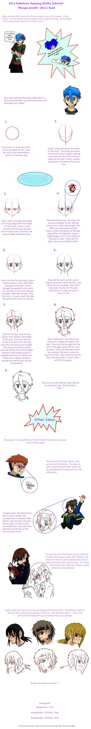 Tutorial - Manga boys faces by Bittersweet-Kat
