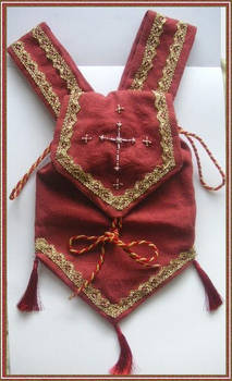 Red medieval pouch