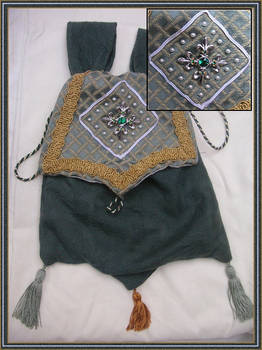 Green medieval pouch