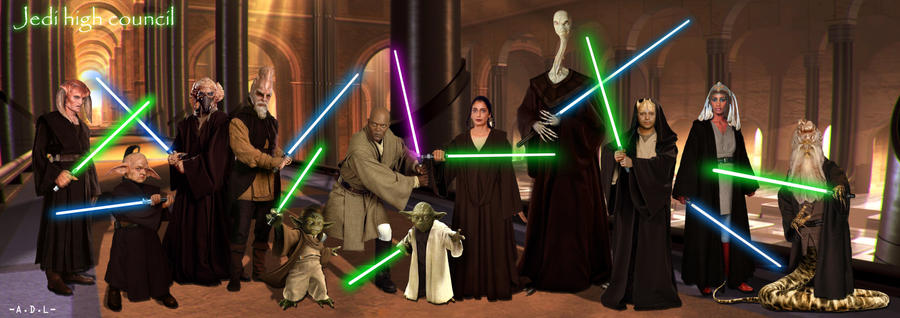 jedi high council by adlpictures on DeviantArt