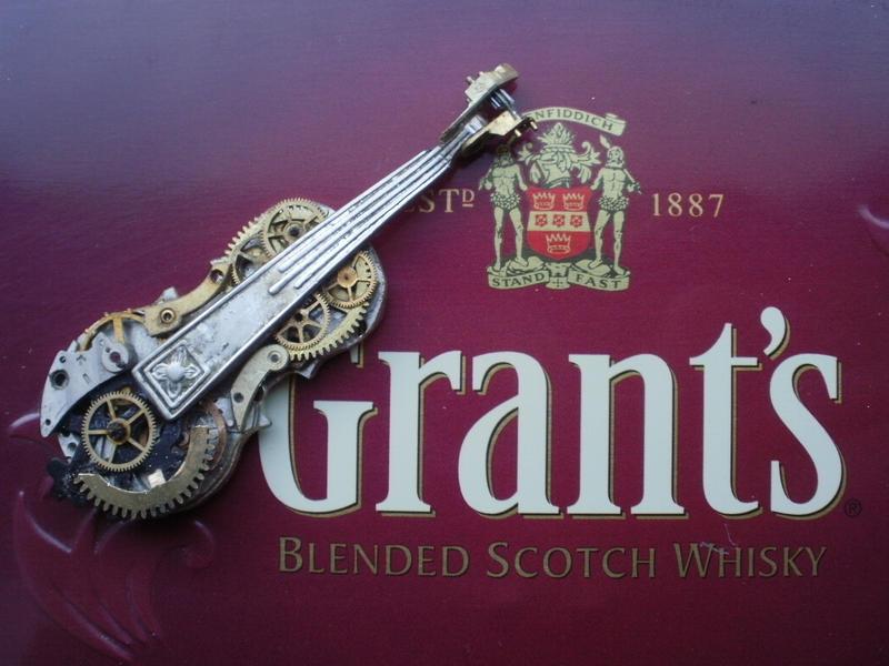 steampunk violin by calugarul