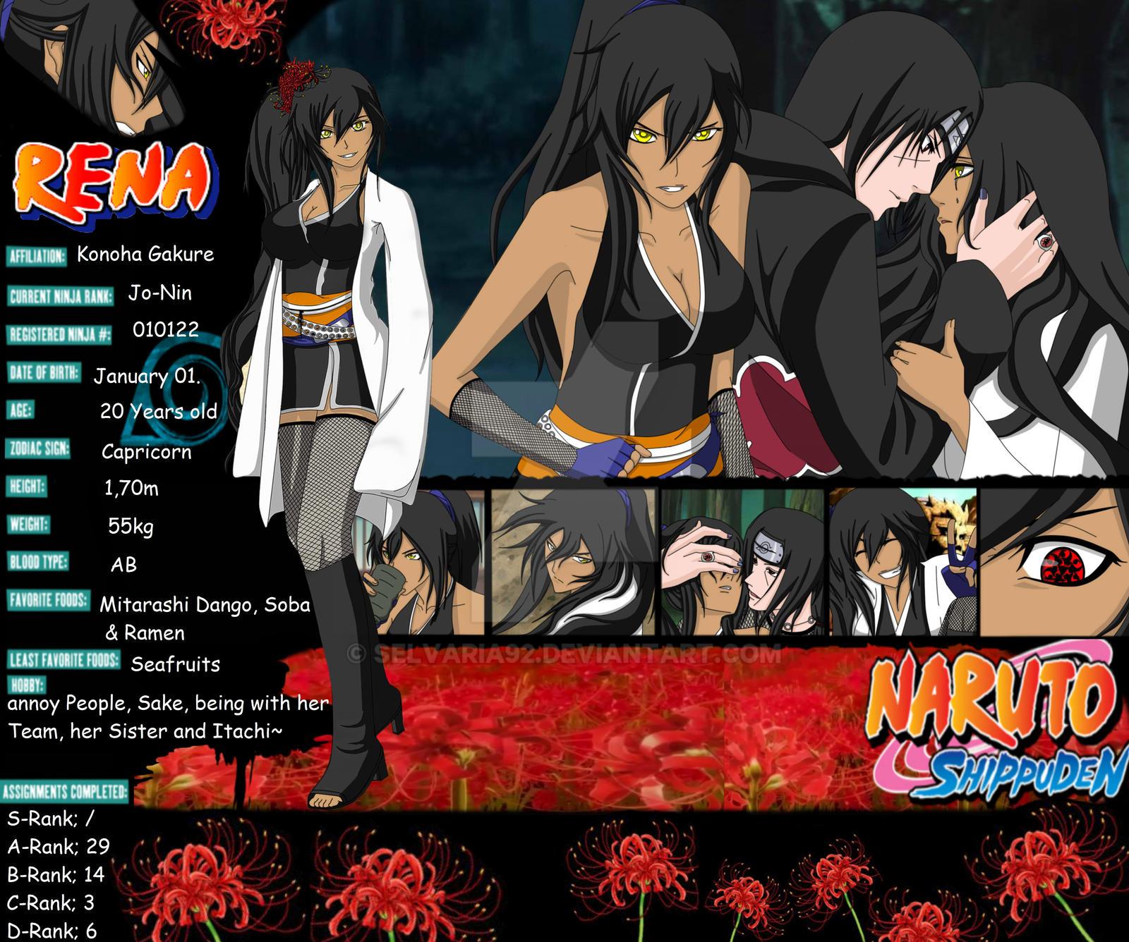 Naruto Oc~ Uchiha Rena Profile By Selvaria92 On DeviantArt