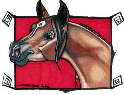 Arabian Horse Caricature by Ashwin24