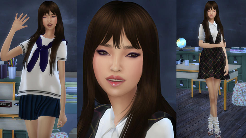 Sims 4 Korean Sim Kpop By Moongalsims On Deviantart