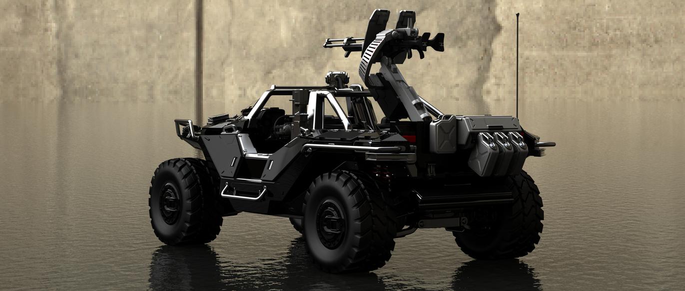 Halo Warthog Rear Render by Ajaxial on DeviantArt