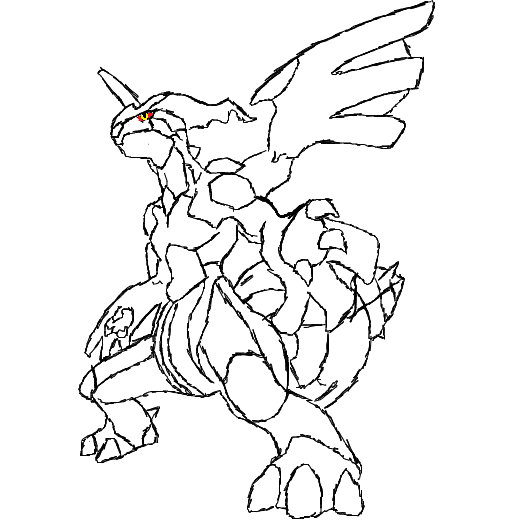 zekrom ex coloring pages | How To Draw Reshiram And Zekrom Sketch Coloring Page