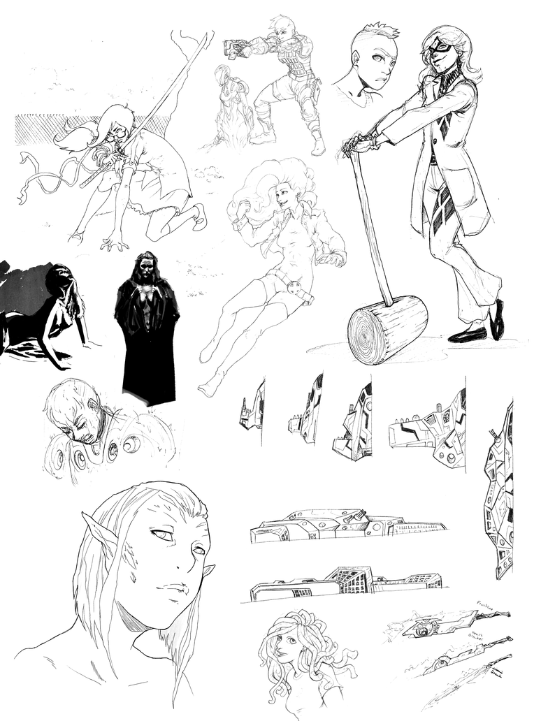 Sketch Dump 0F-1 by KurtFloyd