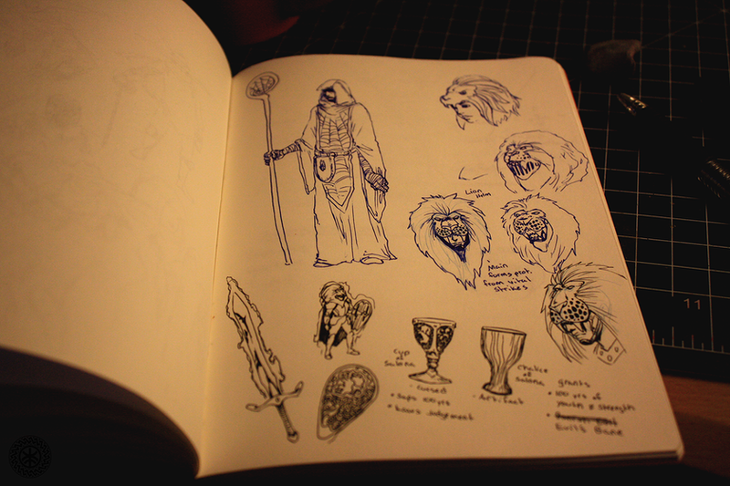Sketchbook Series I: Tabletop Sketches by KurtFloyd