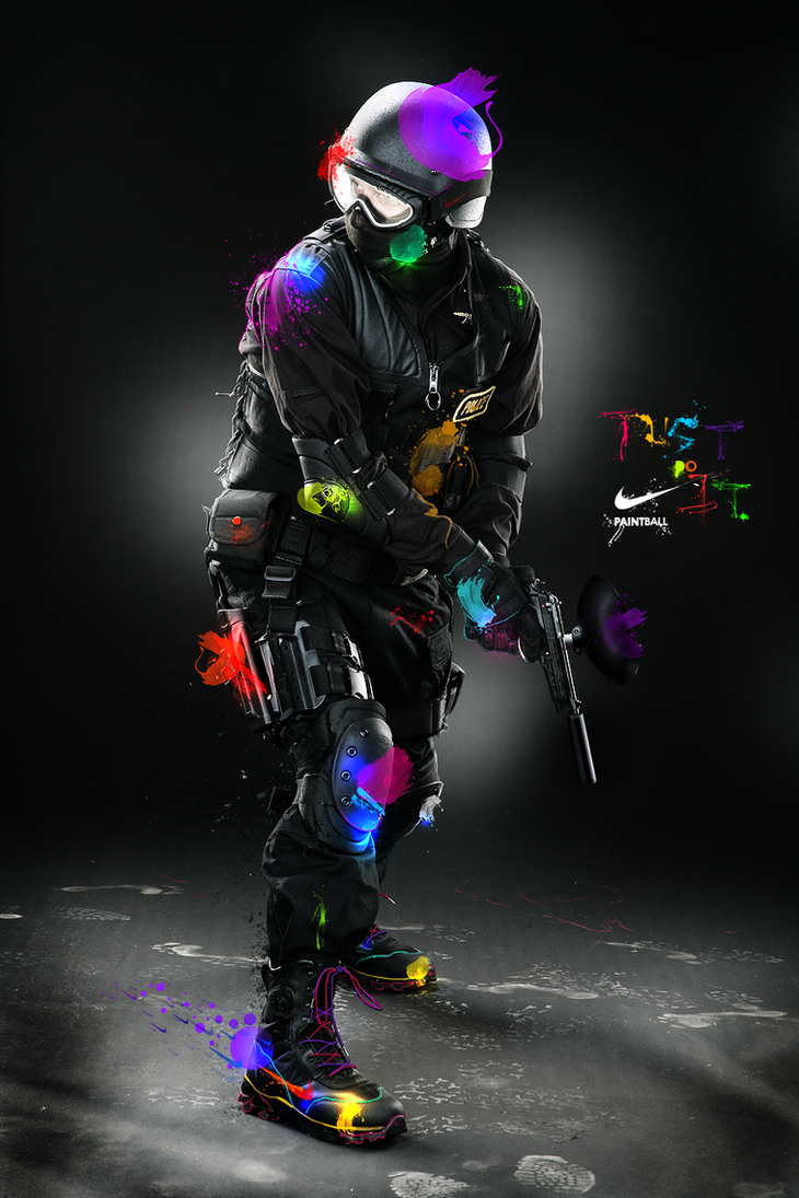 Nike PAINTBALL by Y44n on DeviantArt