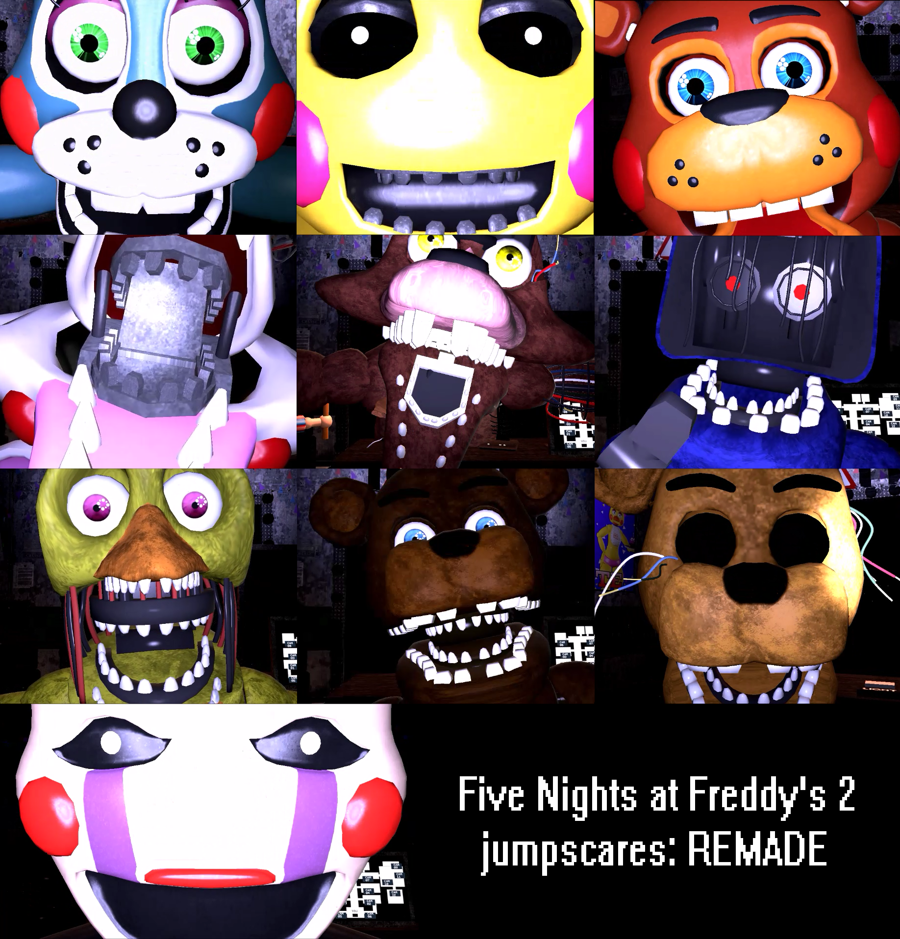 Five Nights At Freddy S 2 Jumpscares Remade By Solace Stills On Deviantart