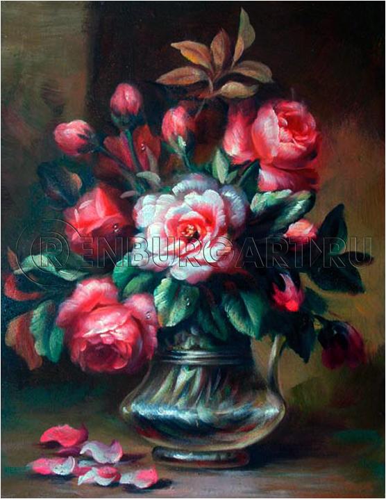 """Картина """"Букет роз"""", холст, масло"""