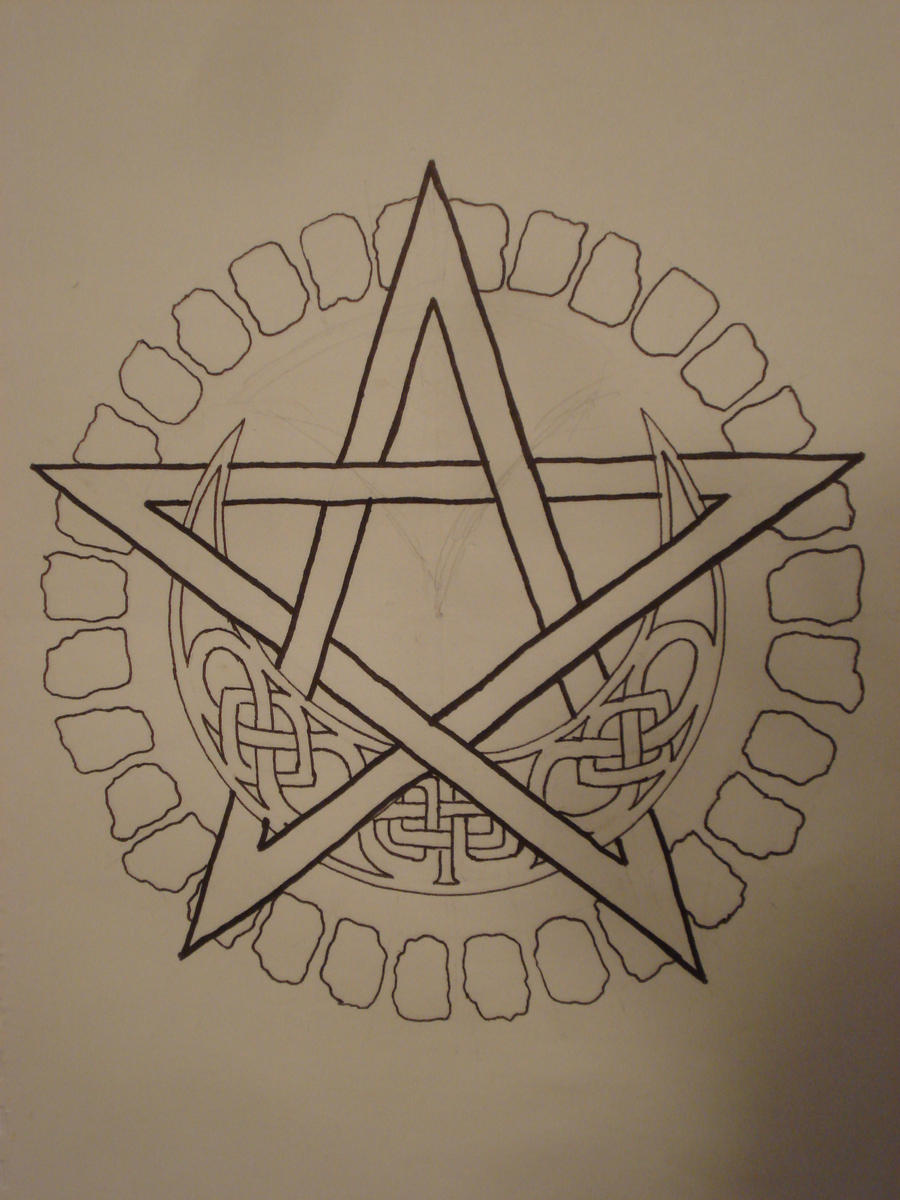 pentacle tattoo by iolair01 on deviantart. Black Bedroom Furniture Sets. Home Design Ideas