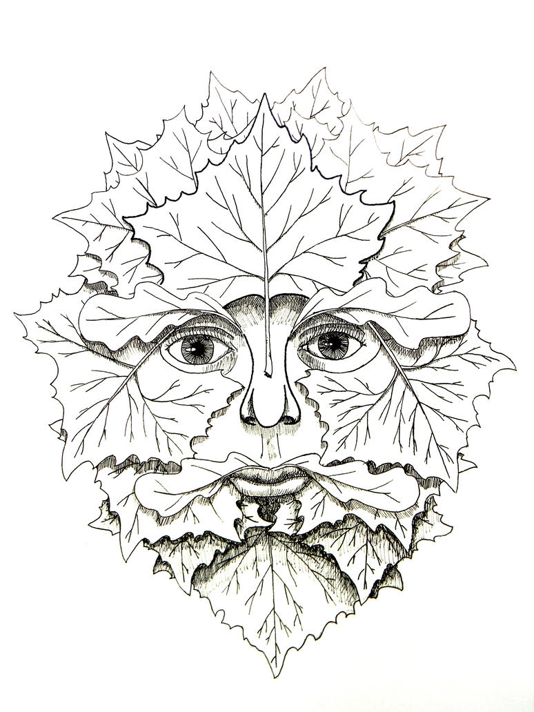 green man coloring pages - photo#15