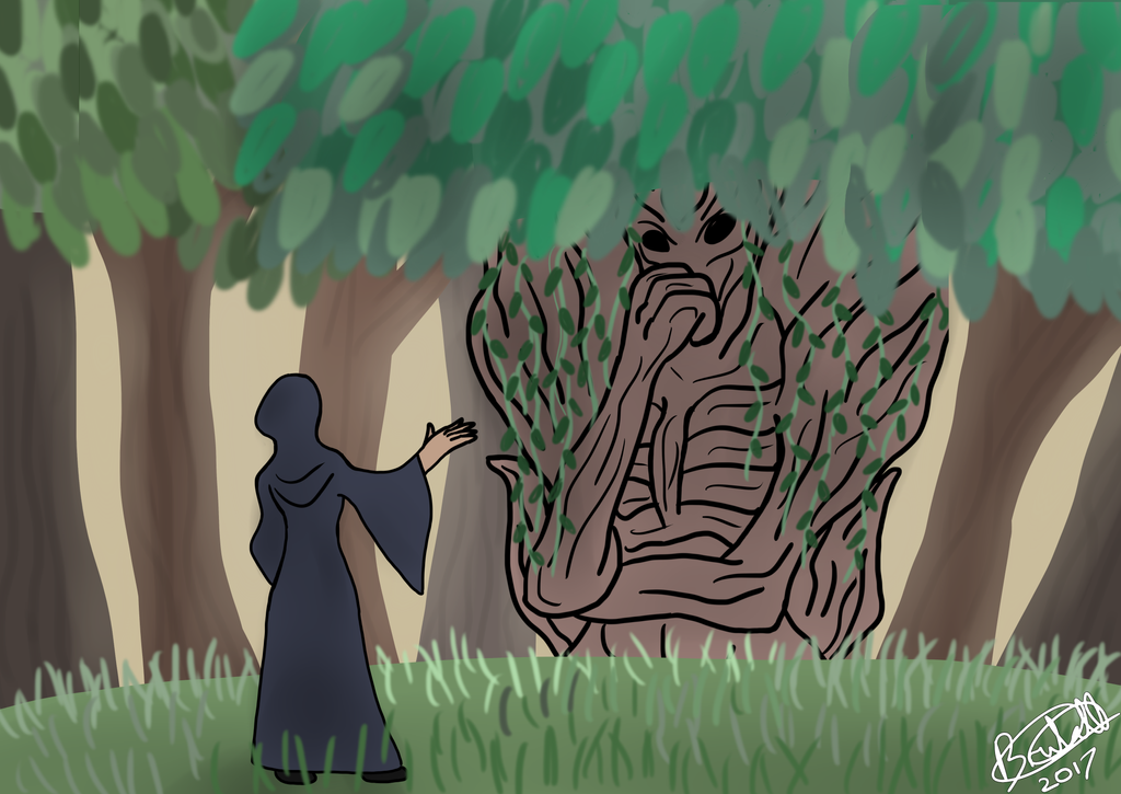 Druid Consulting With An Ent by Brutalwyrm