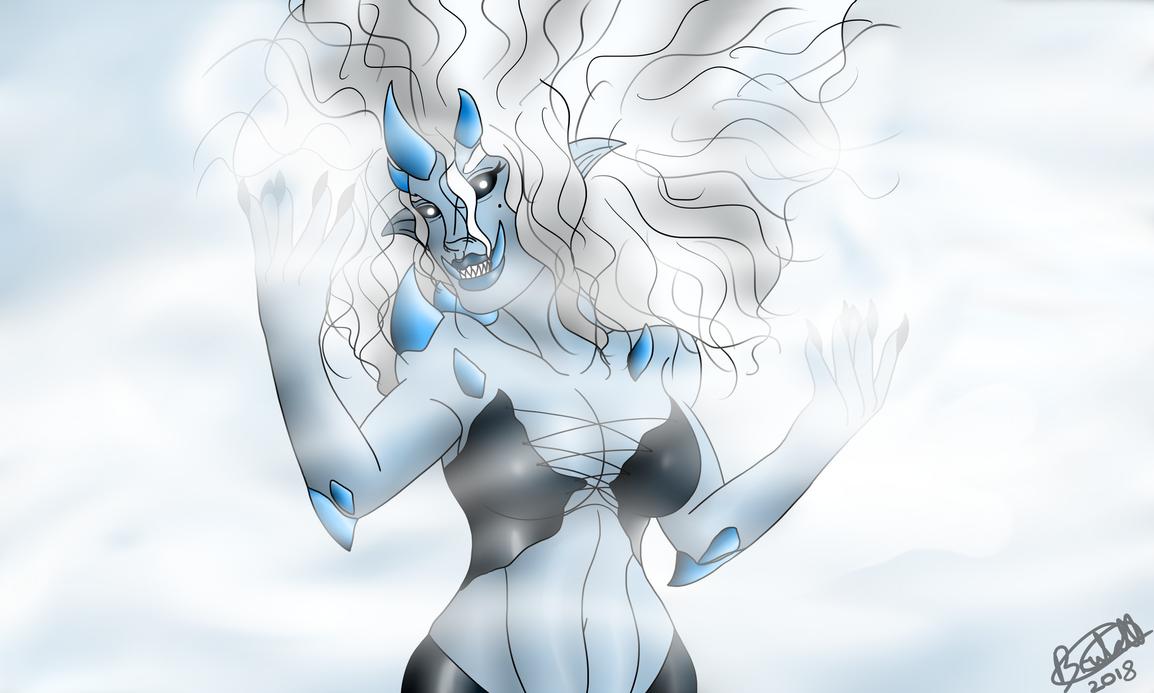Drawtober 2018: Ice Witch by Brutalwyrm