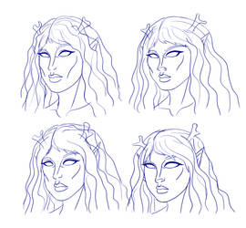 Cymila Head Sketches by Brutalwyrm